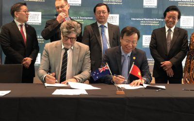 HCMUT COOPERATE WITH THE AUCKLAND UNIVERSITY OF TECHNOLOGY (AUT) IN NEW ZEALAND
