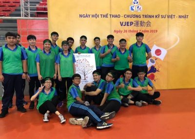 Sinh viên tham gia hội thao VJEP năm 2019