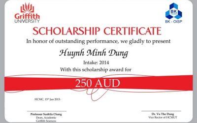 Chúc mừng các sinh viên OISP nhận học bổng ĐH Griffith (Úc)