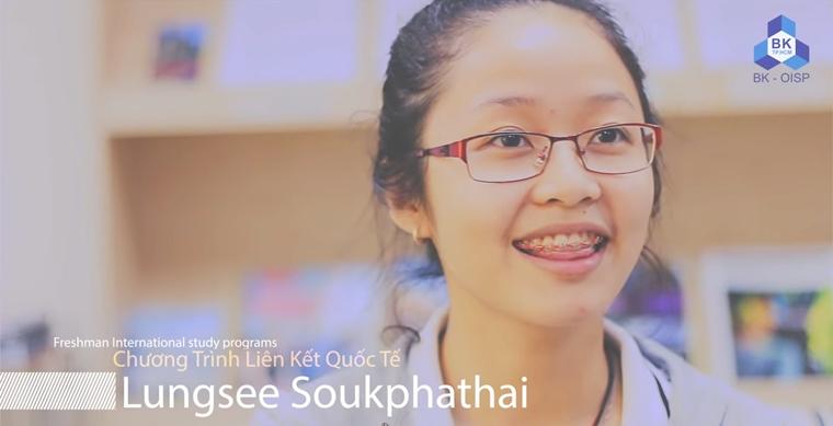 Lungsee Soukphathai nu sinh vien nguoi Lao hoc tai DHBK TPHCM