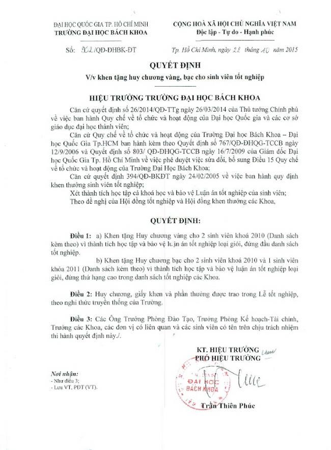 Le tot nghiep Bach Khoa 112015 Mai Ho Duy Tan 03a