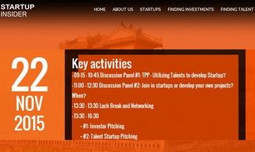 Sắp diễn ra ngày hội kết nối khởi nghiệp Startup Insider 2015