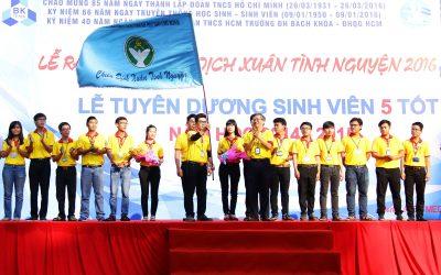 Sinh viên Bách khoa TP.HCM ra quân Xuân tình nguyện 2016