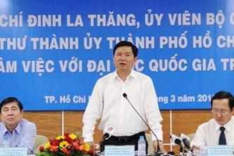 Bí thư Thành ủy TP.HCM: Đầu tư cho ĐHQG-HCM là đầu tư cho TP.HCM