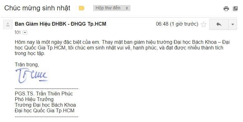 BGH DHBK chuc mung SN SV