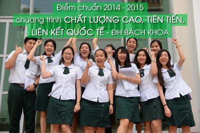 Điểm chuẩn 2014 – 2015 chương trình đào tạo quốc tế ĐH Bách Khoa