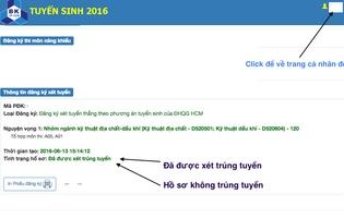 Danh sách trúng tuyển diện xét tuyển thẳng theo phương án tuyển sinh ĐHQG-HCM
