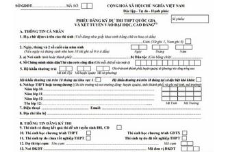 Cách làm hồ sơ đăng ký thi THPT Quốc gia 2017