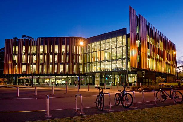Macquarie UNI library by night