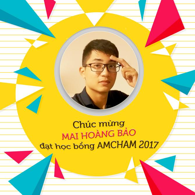 Mai Hoang Bao hoc bong AmCham 2017a