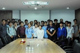 SV BK-OISP tham quan Viện Dầu khí VN