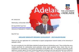 SV BK-OISP đạt học bổng tiến sĩ toàn phần Úc
