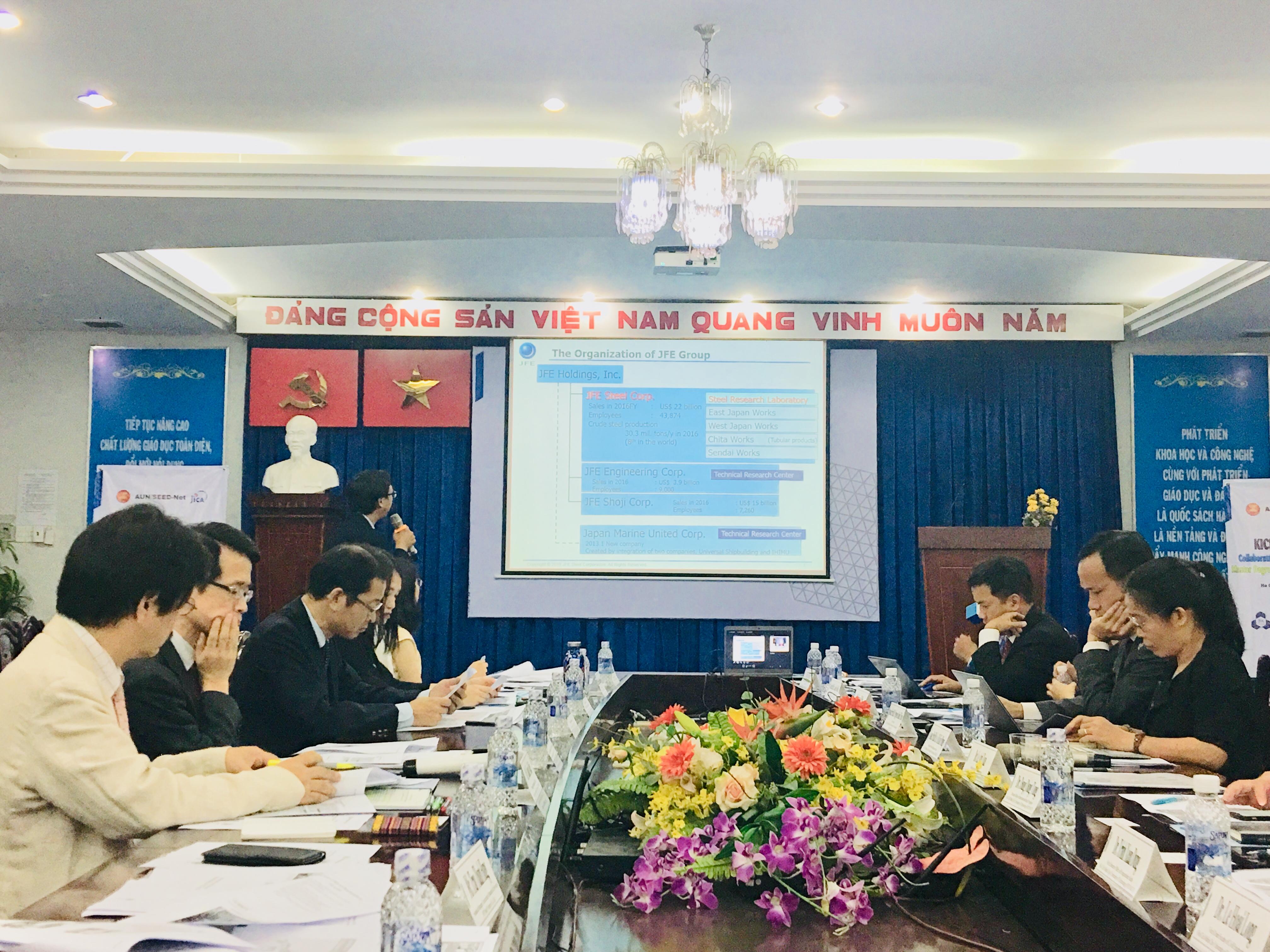 JFE Steel Company Limited presentation CEP Kick off meeting HCMUT Bach khoa YNU YTU JFE