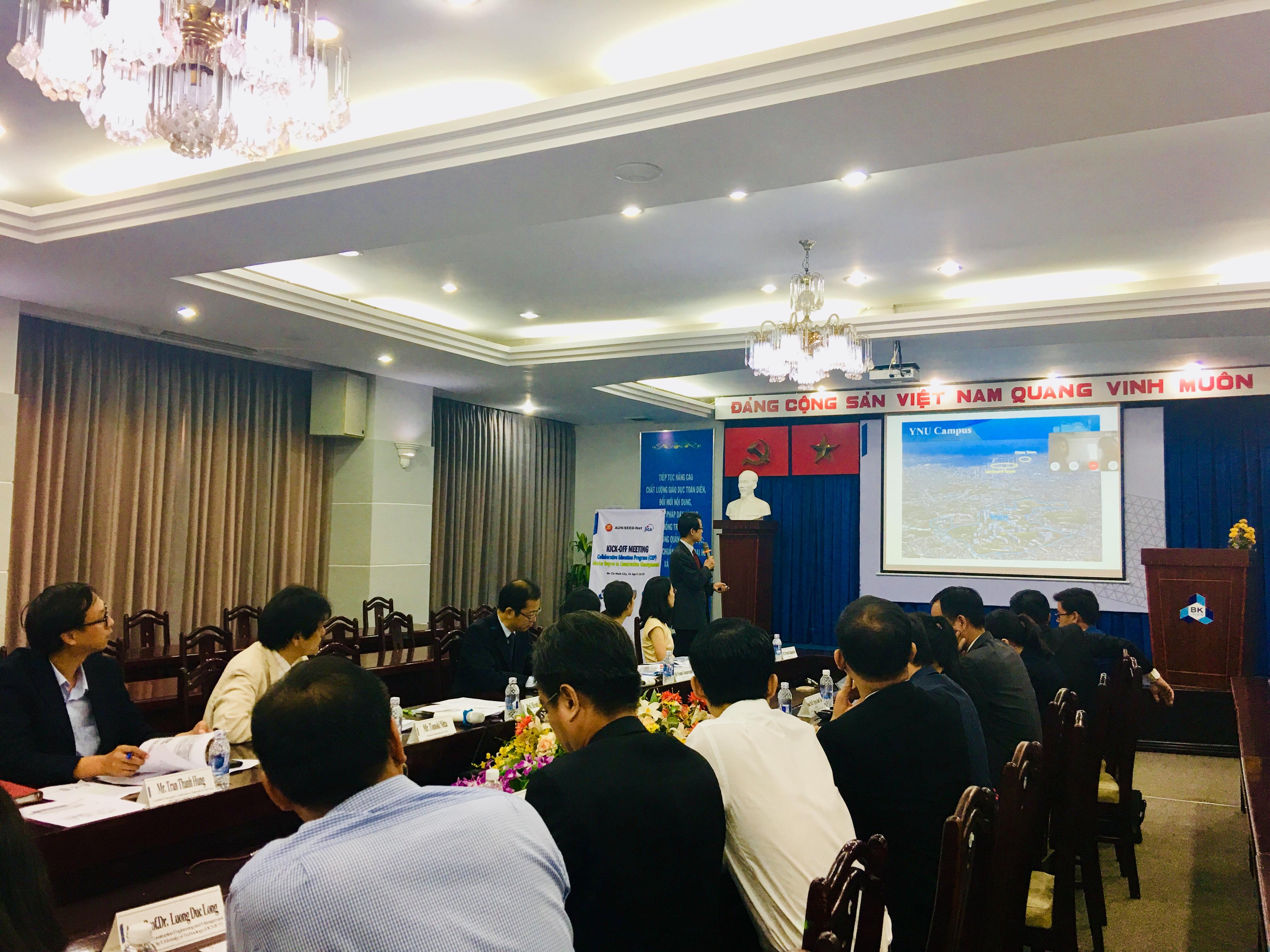 Yangon Technological University presentation CEP Kick off meeting HCMUT Bach khoa YNU YTU JFE