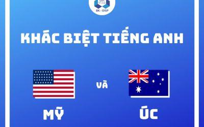 Sự khác biệt giữa tiếng Anh kiểu Mỹ và kiểu Úc