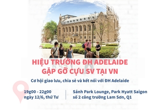 Hiệu trưởng ĐH Adelaide gặp gỡ cựu SV tại Việt Nam