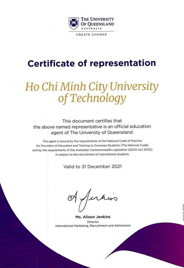 OISP là đối tác toàn diện của Đại học Queensland và Đại học Griffith (Úc)