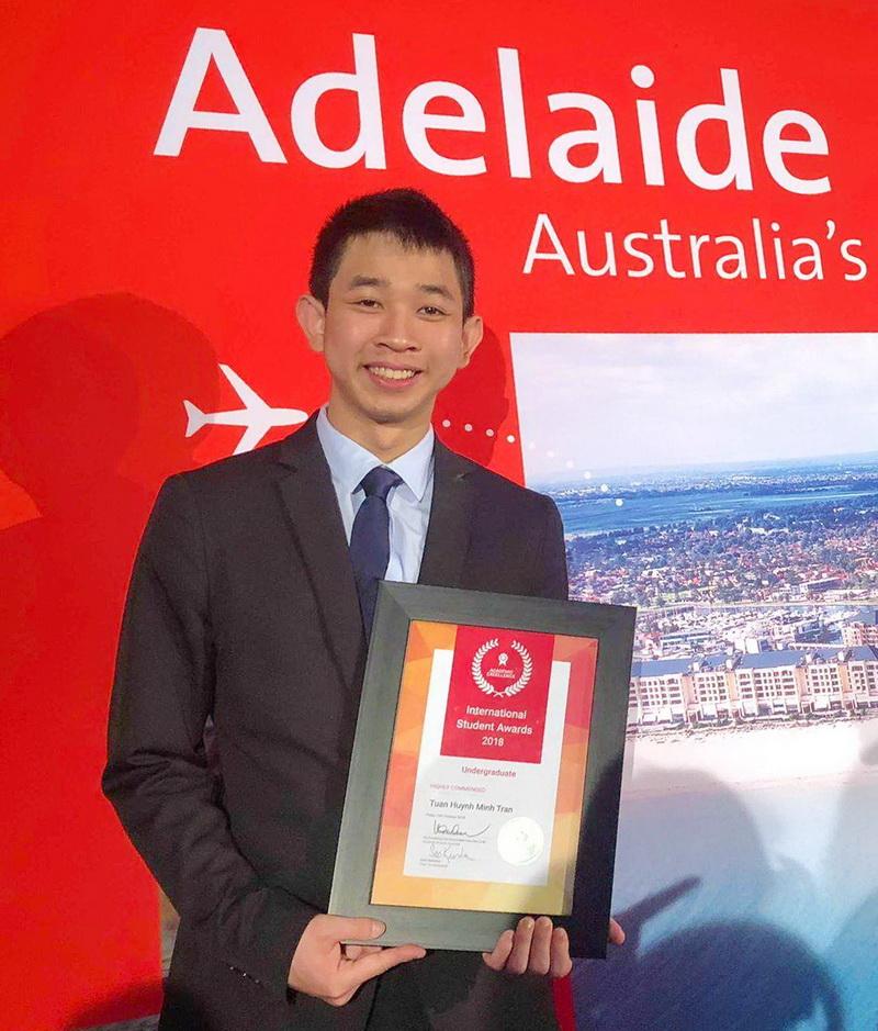 Trần Huỳnh Minh Tuấn - SV quốc tế xuất sắc nhất bang Nam Úc - chương trình Liên kết Quốc tế - Trường ĐH Bách khoa