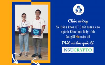 SV OISP đạt giải Nhì cuộc thi NSUCrypto 2020