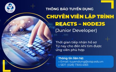Tuyển dụng Chuyên viên lập trình Reacts – NodeJS